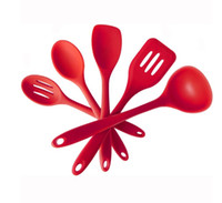 Wholesale Silicone piece Kitchen Cooking Utensil Gadget Set Hygienic Solid Holder Hanger