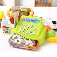 Wholesale 2015 Simulation cash register Luxury Pretend Play Toys Supermarket checkout Simple version with no shopping cart Kids toy gift