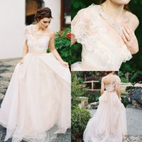 Wholesale 2015 Gorgeous Lace One Shoulder Beaded Wedding Dresses A Line Bridal Gown Court Train Wedding Dresses UM4375