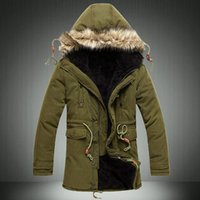 men winter parka - Mens Down Parkas Extremely Thick Winter Coat Long Parkas Men Cotton Outwear Parka winter Male Brand Fur Jacket