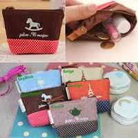 Las ventas calientes mujeres Monederos Monederos embrague titulares de bolsas de tamaño de lino lunar de la cremallera de la manera 11 * 7.5 * 2.5cm BX132 envío gratuito