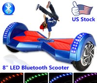 hot wheels - US Stock quot Bluetooth Self Balancing Electric Scooter Inch Two Wheels Electric Hoverboard Hot Selling With LED Light US Fast Shipping