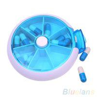 Wholesale 7 Day Round Medicine Pill Vitamin Box Case Storage Dispenser Holder Organizer SJL