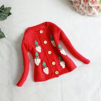 Wholesale New Fashion Korean Children s Clothing Handmade Baby Girls Autumn Children s Cothing Perspective Knit Sweater Baby Cardigan