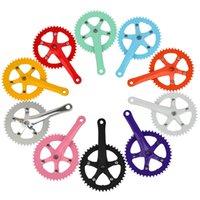 Cheap WholeSale 20pcs lot 44T Urban Fixie Bicycle Crankset Bike Retrospec Retro Colours Alloy 170mm x 44T Free Shipment