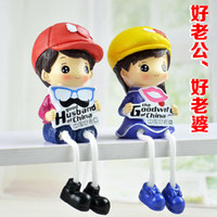 Wholesale Resin figure doll ornaments hanging foot garden lovely married couple bedroom furnishings and creative wedding gift