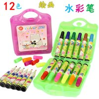 Wholesale Children s Painting Pen Color Watercolor Mapping Pen Children s Drawing Pen Set European EN71 Certification