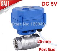 Wholesale Motorized Ball Valve quot DN25 CR04 Wire DC5V Stainless Steel Electric Ball Valve WAY