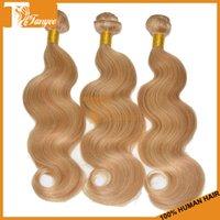 Cheap New Arrival Piano Color P27 613 Blonde Hair Extension 5A Virgin Brazilian Body Wave Human Hair Weaves 3pcs Lot Cheap Remy Hair Weaving