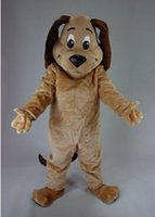 Wholesale Dog Brown Performance Plush Mascot Costume Adult Size Fancy Dress Suit