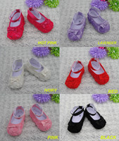 Girl ballet flats toddlers - 2015 top selling new fashion rose flower ballet flats Toddler baby moccasins baby shoes First Walkers Anti slip Infant Shoes free shiping
