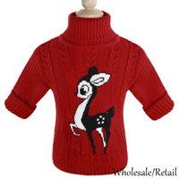 Cheap Unisex Winter Autumn Sweater Infant Baby Deer Cartoon Sweaters Boy Girl Child Pullover Baby Turtleneck Children Outerwear Sweater SV012013