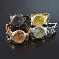 Wholesale New Hot Women Watches Rose Gold Stainless Steel Watch Waterproof Quartz Wristwatches Luxury Watch Gold Women Ladies PS001