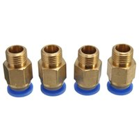 Wholesale 2pcs Push Fit Pneumatic Fitting with mm OD Tube M10 Thread for D Printer RepRap