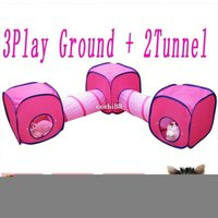 ru - HOT In Br Ru Cat Dog Toys Cube Tunnel Toys One Set Pet Cat Dog Toys Castle Tent House Cage Nest