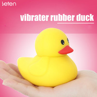 bathroom sex - Yellow Rubber duck Vibrator water proof sensitive parts massager Soft Vibe Adult Bathroom naughty Sex Toy Product Direct