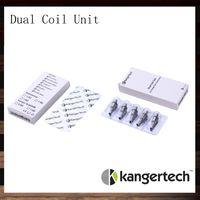New Kanger Dual Unit Coil Pour Kangertech Aerotank Aerotank Mega Aerotank Mini Evod verre Protank3 Mini Emów Cartomizer 100% Original