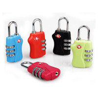 Wholesale Fashion hot Digit Combination Padlock Suitcase Travel Lock TSA locks Luggage Padlock