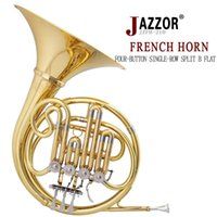 Wholesale NEW French Horn key JAZZOR Professional Horn Single Row Split JZFH Bb flat Wind Instruments French Horns