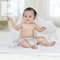 Wholesale 95 cm and cm cotton white color baby boys girls blanked bath towel with top quality and safe for baby