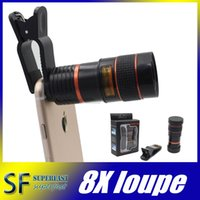 Wholesale for iphone s telephone lens universal mobile phone telephone lens X telescope zoom for samsung s6 s6 edge Retail Package