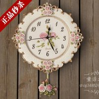 arts and crafts ideas - Continental pastoral retro wall clocks decorative wall charts Korea bedroom ideas of art and craft living mute clocks clocks