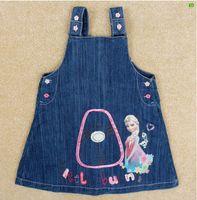 2015 de verano para niños ropa de las muchachas Denim Mini Faldas Faldas Jean 5pcs / lot libera el envío
