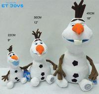 1PC Retail Frozen Olaf peluche jouets 22CM (9