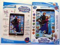 Nueva 3D YPAD Inglés Machine Learning juguetes Tablet estilo congelado regalo de juguetes educativos de ordenador para niños embroman wtih sonido de películas y música de DHL