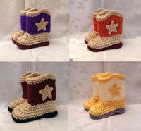 Unisex Winter Cotton Crochet cowboy girls booties,soft toddler shoes,cotton yarn infant snow boots,baby shoes,photp prop star unisex walker shoes.10pairs 20pcs