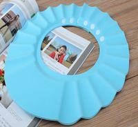 Wholesale Shampoo Bath Shower Cap Hat Soft Baby Kids Children Shampoo Bath Shower Cap Hat Waterproof Wash Hair Shield Adjustable DHL Free