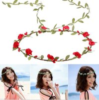 berry hair - Diy Hair Garland Artificial Flower Head Ring Wedding Garland Pip Berry Flower Stamen DIY Wreath Simulation Flower Bead Material BT018