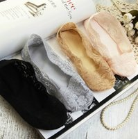 animal one liners - One Pair Fashion Lace Antiskid Invisible Liner No Show Peds Low Cut Socks S2030