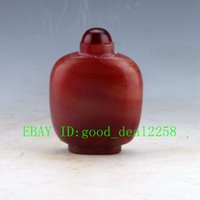 agate type - 100 Natural Agate Hand carved Snuff bottle