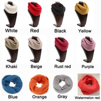 acrylic fabric - New Arrival Winter Scarves Women Knitted Ring Scarf Acrylic Soft Fabric Ladies Scarves Many Colors
