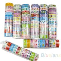 Wholesale 10 rolls set of kawaii lovely deco cartoon tape scrapbooking adhesive paper sticker PVC O1C