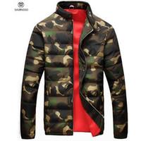 Escudo cálido invierno de los hombres Parkas Chaquetas Ejército Verde Blanco Parka Jacket Otoño-militar del estilo para hombre Invierno para los muchachos Ropa barato térmicas