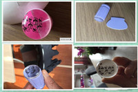Wholesale 20Pcs Stamping Nail Art Stencils Nail Jelly stamper Pure Transparent Head Nail Stamp Scraper Stamper Polish Stencils JT014