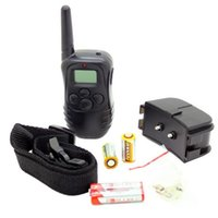 Wholesale 2015 HOT LV Level meter Electronic Shock Vibra LCD Display Remote Control Pet Dog Training Collar D For Dog