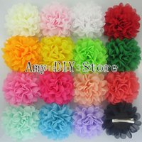 alternative baby clothes - Alternative Chiffon Hair Flowers WITH Hair Clips For Baby Girls Clothing Garment HairAccessories