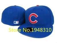 Wholesale 2015 hot sale high qualith men fashion outdoor fitted caps full closed icago Cubs hat cap baseball hats retail