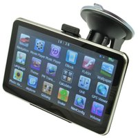 Wholesale 5 Inch Auto Car GPS Navigation CPU M GB FM Transmitter Car Navigator FM Russian Hebrew