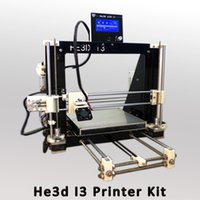 Wholesale High Precision Reprap He3d prusa i3 DIY d priner kit with LCD Black frame