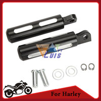 Wholesale Motorcycle Foot Pegs Black Aluminum Motorbike Bike Footrest Dirt Bike Pegs Male Mount For Harley Davidson Universal order lt no track