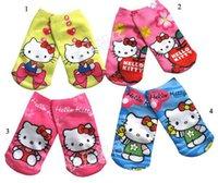 Wholesale 120PCS KT Cat Cartoon Animation socks boat socks socks Children socks HL