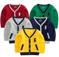 Wholesale 2015 spring autumn new style baby boys girls Pure color sweater children Knitting Shirt coat kid girl boy thin cardigan jackets