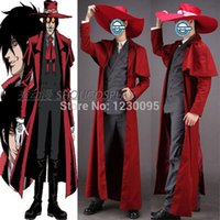 alucard cosplay - Hellsing Alucard Cosplay Costume only coat hat Costume