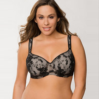 army chest - Cacique Women s Plus Size Bra Thin Cup Mould Sexy Lace Bras For Large Chest Women E F G H