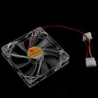 Wholesale 1200 RPM Fan airflow CFM mm PC Computer Clear Case Quad LED Light Blade CPU Cooling Fan Pin