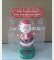 Wholesale Novelty Gag Toys Solar Toys Per Swing Under Sunshine No Battery Car Decoration Happy Dancing Solar Santa